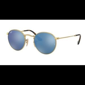 RAY BAN RB3447N ROUND METAL SUNGLASSES